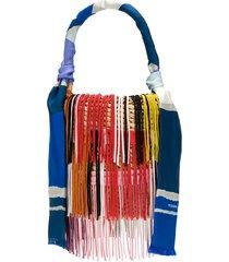 missoni tassel scarf bucket bag - neutrals