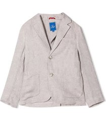fay blazer with linen buttons