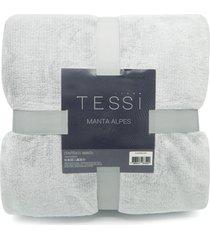 manta cationic blanket queen 2,20m x 2,40m 300g/mâ² - tessi - grafite - cinza - dafiti