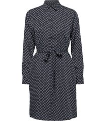 d1. icon g shirt dress korte jurk blauw gant