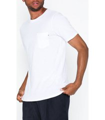 jack & jones jjepocket tee ss o-neck noos t-shirts & linnen vit