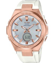 g-ms ladies white and silver ana-digi watch