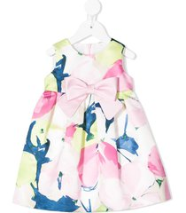colorichiari all-over print dress - pink