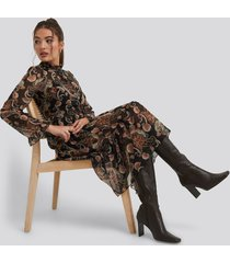 trendyol patterned midi dress - multicolor