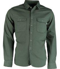 bos bright blue pascal denim shirt 21107pa20sc/340 green