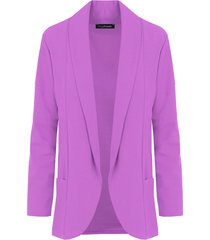basic blazer lila