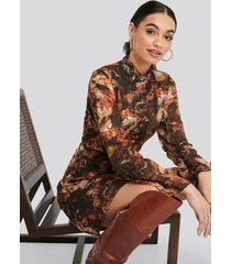 trendyol patterned mini dress - multicolor
