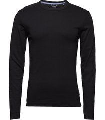 basic tee o-neck l/s t-shirts long-sleeved svart lindbergh