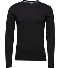 basic tee o-neck l/s t-shirts long-sleeved svart lindbergh