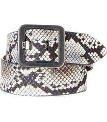 women's brave leather makani snakeskin embossed leather belt