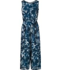 lygia & nanny jade printed cropped jumpsuit - blue