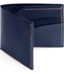 ezra arthur no. 6 leather wallet in navy at nordstrom