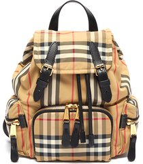 'the rucksack' check print econyl® backpack