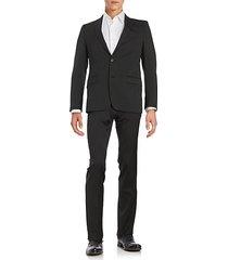 regular-fit wool-blend suit
