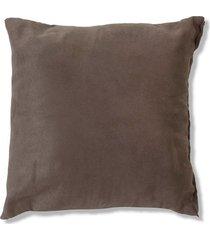 almofada em suede toscana 45x45cm marrom