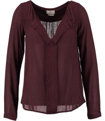 replay bordeaux blouse shirt