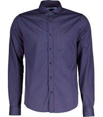 scotch & soda overhemd- slim fit - blauw