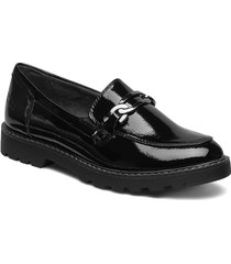 woms slip-on loafers låga skor svart tamaris