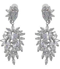 nina cubic zirconia cluster earrings