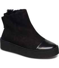 bonny shearling boot shoes boots ankle boots ankle boots flat heel svart filippa k