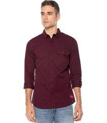 camisa vinotinto calvin klein