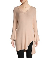 v-neck ribbed tunic