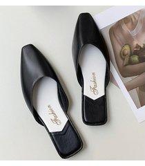 sandalias antideslizantes para mujer baotou-negro