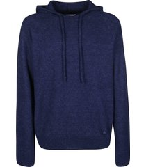 lanvin blue silk-wool-cashmere blend sweatshirt