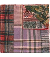 pierre-louis mascia pancake panelled wool scarf - multicolour