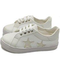 zapatilla blanca calfas estrella