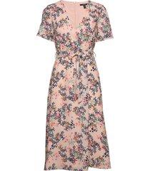 dresses light woven knälång klänning rosa esprit collection
