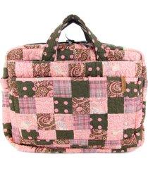 capa para notebook magnolia em patchwork original - rosa - feminino - dafiti
