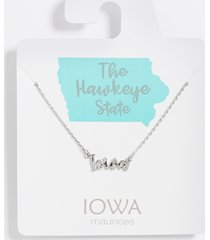 maurices womens dainty iowa necklace gray