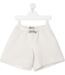 simonetta quilted bermuda shorts - white