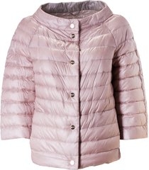 herno round collar buttoned padded jacket