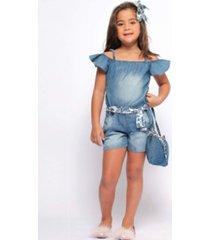 macacão jeans mrx jeasn azul