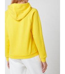 polo ralph lauren women's logo hoodie - university yellow - l