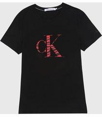 camiseta negro-rojo calvin klein