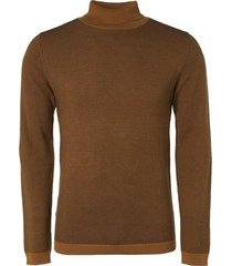 no excess pullover turtleneck jacquard mini s bronze