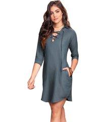 vestido corto para mujer gris mp