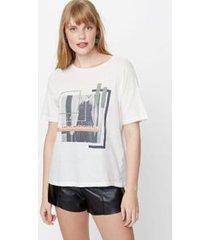 maxi t-shirt basic off white
