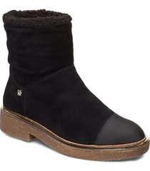 fay shoes boots ankle boots ankle boots flat heel svart dkny