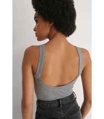 na-kd recycled body med djup rygg - grey