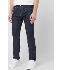 edwin men's slim tapered kaihara jeans - blue rinsed - w32/l32