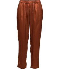 pants in snake jacquard casual byxor orange coster copenhagen