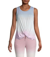 marc new york performance women's twist front tank top - aqua - size m