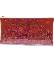 multi-colored red confetti clutch