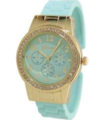 women's rhinestone bezel matte cuff bracelet watch 38mm