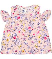 blusa chalis estampado floral