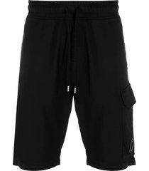 c.p. company light fleece garment dyed cargo shorts